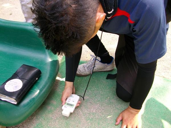 日本共産党杉並区議団独自放射線量測定(2011.08.13)