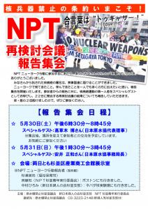 2015年NPT報告会チラシ