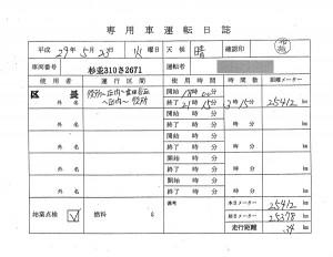 日本共産党_杉並区議会議員_富田たく_区政報告ニュース_154_杉並区長_専用車運転日誌20170523