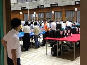 2021年東京都議会議員選挙 杉並区の開票作業の様子①(2021.07.04 20:51)